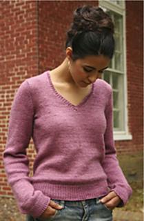 aa1aeb8f5c686 Ravelry   106 Silky V-Neck Sweater pattern by Phoenix Bess