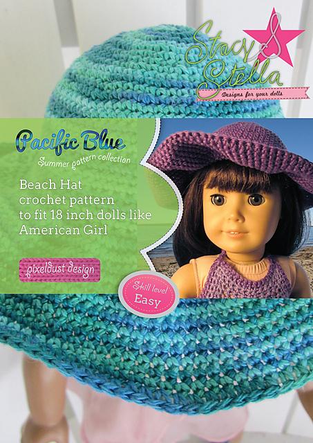 Ravelry Beach Hat 18 Doll Accessories Pattern By Keryn Christiansen
