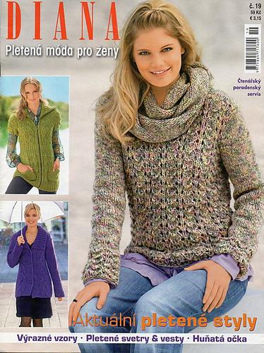 7a64f709747 Ravelry  Diana Pletená móda pro ženy č. 19 - patterns