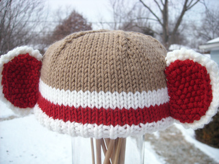 e3c10203f1a71 Ravelry  Knitted Sock Monkey Hat pattern by Pat Salvatini