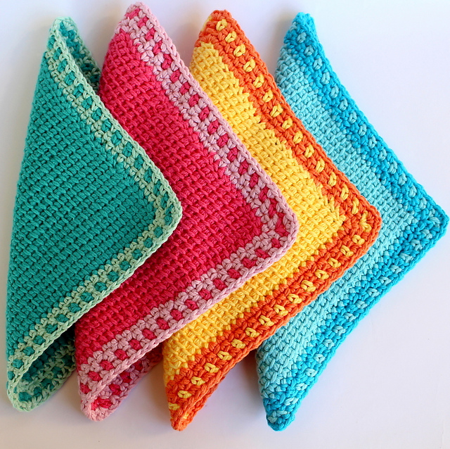 Ravelry: Tunisian Crochet Washcloth pattern by Poppy & Bliss ...