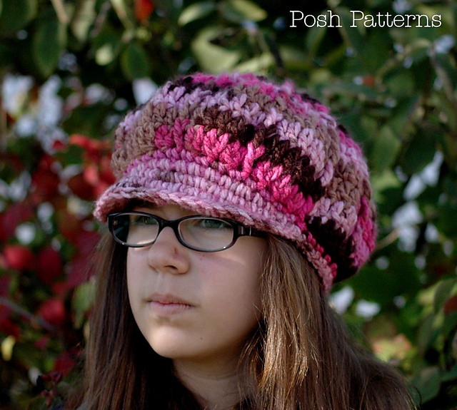 Ravelry  Apple Cap Slouchy Newsboy Hat 222 pattern by Posh Patterns 2c39cdc1430