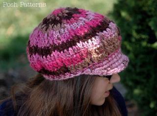13abe3ebd519a Ravelry  Apple Cap Slouchy Newsboy Hat 222 pattern by Posh Patterns