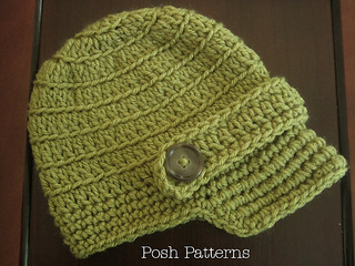 Ravelry  Sideways Ribbed Crochet Newsboy Hat 166 pattern by Posh Patterns f76c593b952