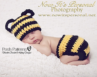5005816de99 Baby Bumble Bee Hat   Diaper Cover Set 161 ...