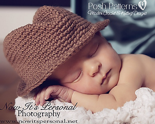 Ravelry: Fedora Hat 204 pattern by Posh Patterns