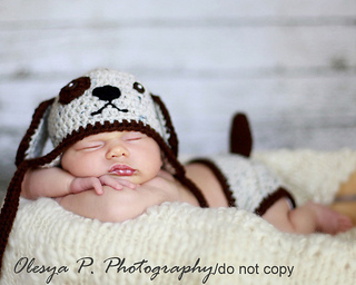 Ravelry  Puppy hat and diaper cover pattern by Olesya Pronyaeva 739fcdf09f3