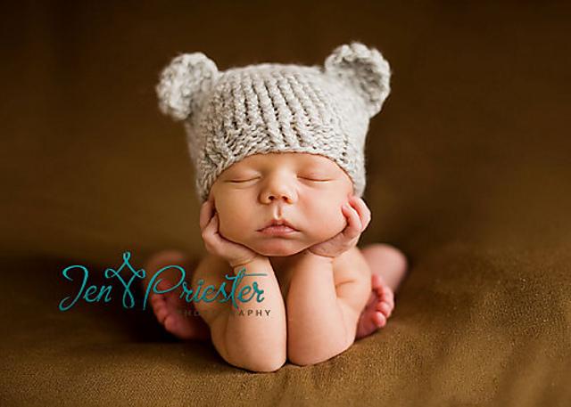 d58f45857 Ravelry  Knit Newborn Baby Bear Hat pattern by Olesya Pronyaeva