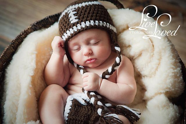 926a8186e Football beanie, earflap hat and diaper cover pattern by Olesya Pronyaeva