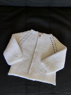 9d98d452f517 Ravelry  Top Down Garter Stitch Baby Jacket pattern by Nancy ...