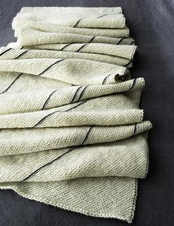 Diagonal Pinstripe Scarf pattern by Purl Soho