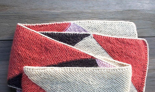 Ravelry Just Triangles Entrelac Scarf Pattern By Purl Soho