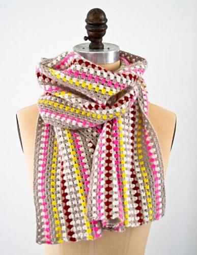 Ravelry Granny Stripe Scarf Pattern By Purl Soho