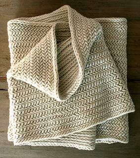Big Herringbone Cowl pattern by Purl Soho