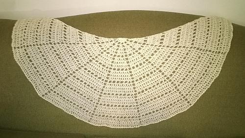 Ravelry: Sort of Half Circle Shawl pattern by PurpleIguana