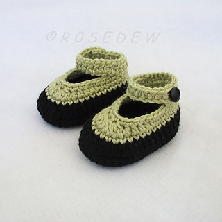 3deaed14f68cf Ravelry: Crochet Baby Booties with Ankle Strap pattern by Tina Rodriguez