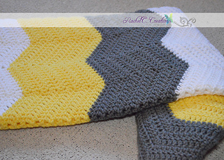 Ravelry Chevron Baby Blanket Pattern By Rachelc Creations