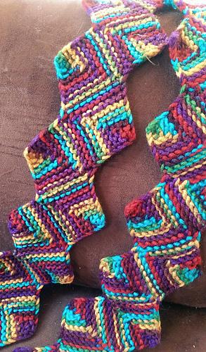Ravelry Loom Knit Zig Zag Scarf Pattern By Adrienne Weaver