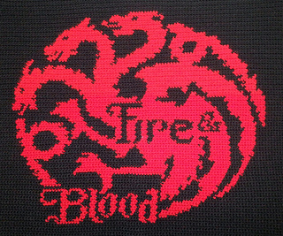 Ravelry House Targaryen Banner Game Of Thrones Pattern