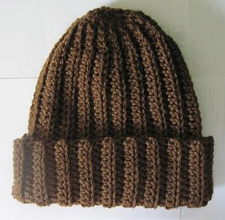 Ravelry  Basic Crochet Ribbed Hat pattern by Rebekah Thompson 4a4755259e8