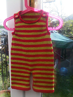 8fe473cc8 Ravelry  Stripey Baby Dungarees pattern by Becky Smith