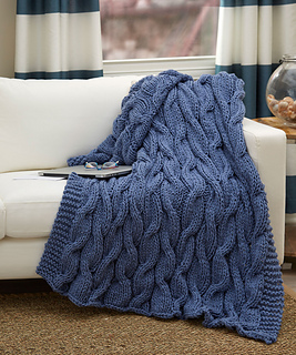 Ravelry Casual Cables Throw Pattern By Laura Bain