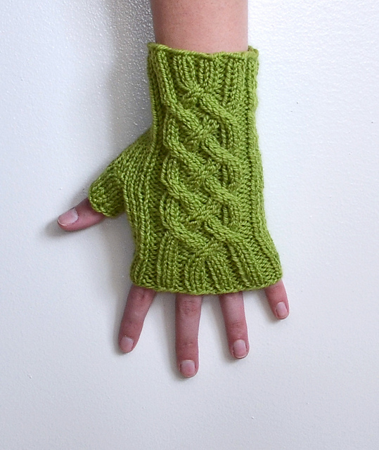 Ravelry: Celtic Knot Fingerless Gloves pattern by Rachael Sundell