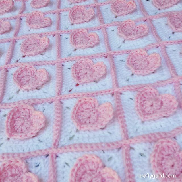 Ravelry 3d Heart Granny Baby Blanket Pattern By Rhea Papellero