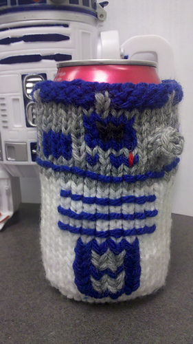 Ravelry R2d2 Can Cozy Pattern By Robin Barnhill