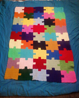 Ravelry Autism Awareness Jigsaw Puzzle Afghan Pattern By