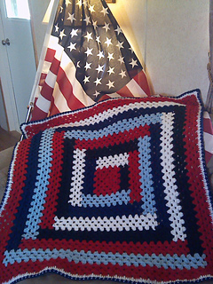 Ravelry Patriotic Lapghan Pattern By Roberta Duley