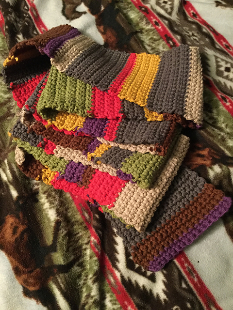 Ravelry Fourth Doctor Scarf Pattern By Roka Designs