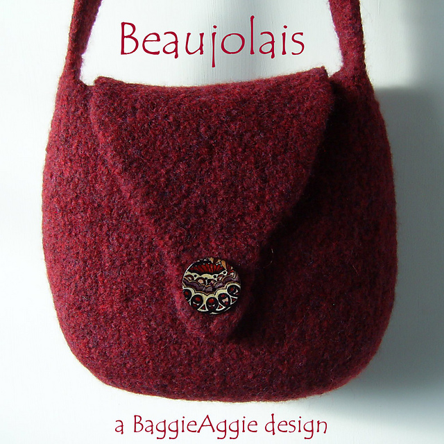 Ravelry: No-Sew Felted Shoulder Bag Pattern, Beaujolais pattern by ...