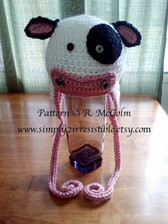 Ravelry  Molly Moo Cow Beanie and Earflap Hat pattern by Ruth ... a7f56328b89