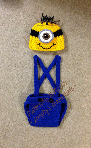 Ravelry Minion Hat And Diaper Cover With Suspenders Pattern By Ruth