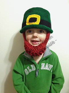 Ravelry  Leprechaun Irish Bowler Hat and Beard pattern by Ruth McColm a810897f429