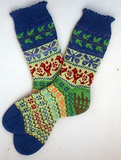 Ravelry Carols Garden Socks pattern by Terry Morris