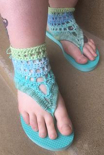 f7263ece1aad2f Ravelry  Gladiator Flip Flop Sandals pattern by Amanda Julien