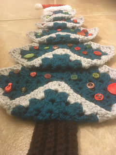 Ravelry Vintage Granny Square Christmas Tree Pattern By