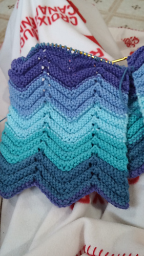 Ravelry Rippling Waves Pattern By Patons