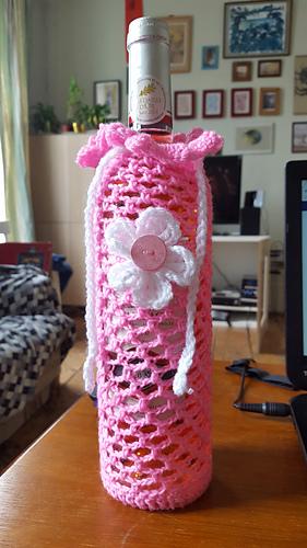 Ravelry Crocheted Wine Bottle Cozy Pattern By Marni Reecer