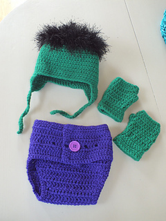 & Ravelry: The Incredible Hulk Baby Set pattern by Samantha Oravec