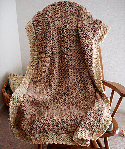 Ravelry Sideways Shell Baby Afghan Pattern By Donna Laing