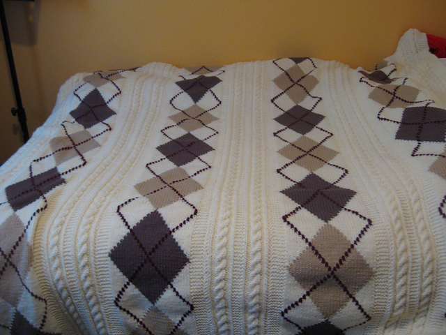 Ravelry Argyle Cable Knit Afghan Pattern Pattern By Spinrite