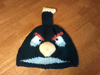 Ravelry  Black Angry Bird Hat pattern by Sarah Russell 8aa631e741c0