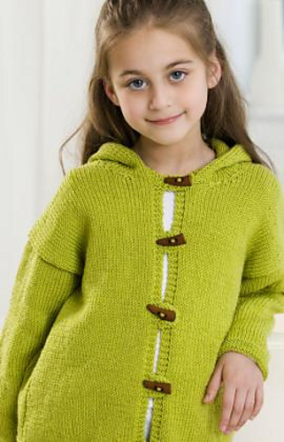 Free Knitting Patterns For Childrens Jackets : Ravelry: Hooded Jacket pattern by Red Heart Design Team