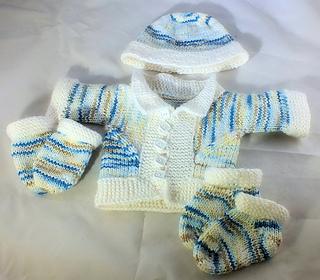 1c34264a5f3 Garter Stockinetter Baby Set X Loom pattern by Scarlett Royal