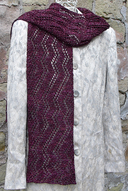 Indie Design Gift Along 2018 Cowl and Scarf knit scarf, lace