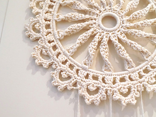 Ravelry Macrame Inspired Sunwheel Dreamcatcher Pattern By