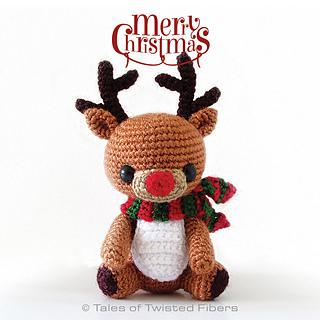 Rudy the Reindeer • Free Crochet Pattern #reindeer #crochet